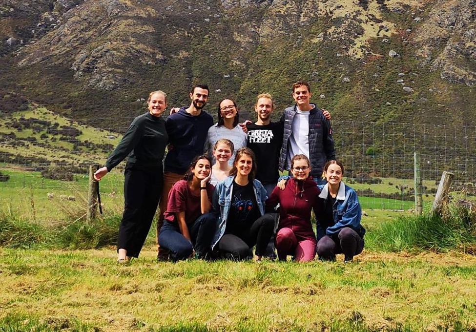 Equipo de misión de Gloria en Nueva Zelanda